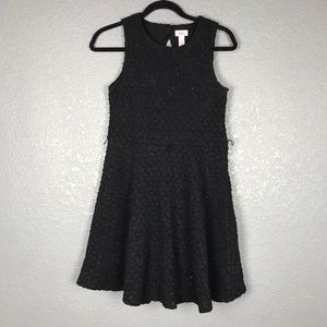 Justice Dresses - JUSTICE Sparkly Black Textured Dress